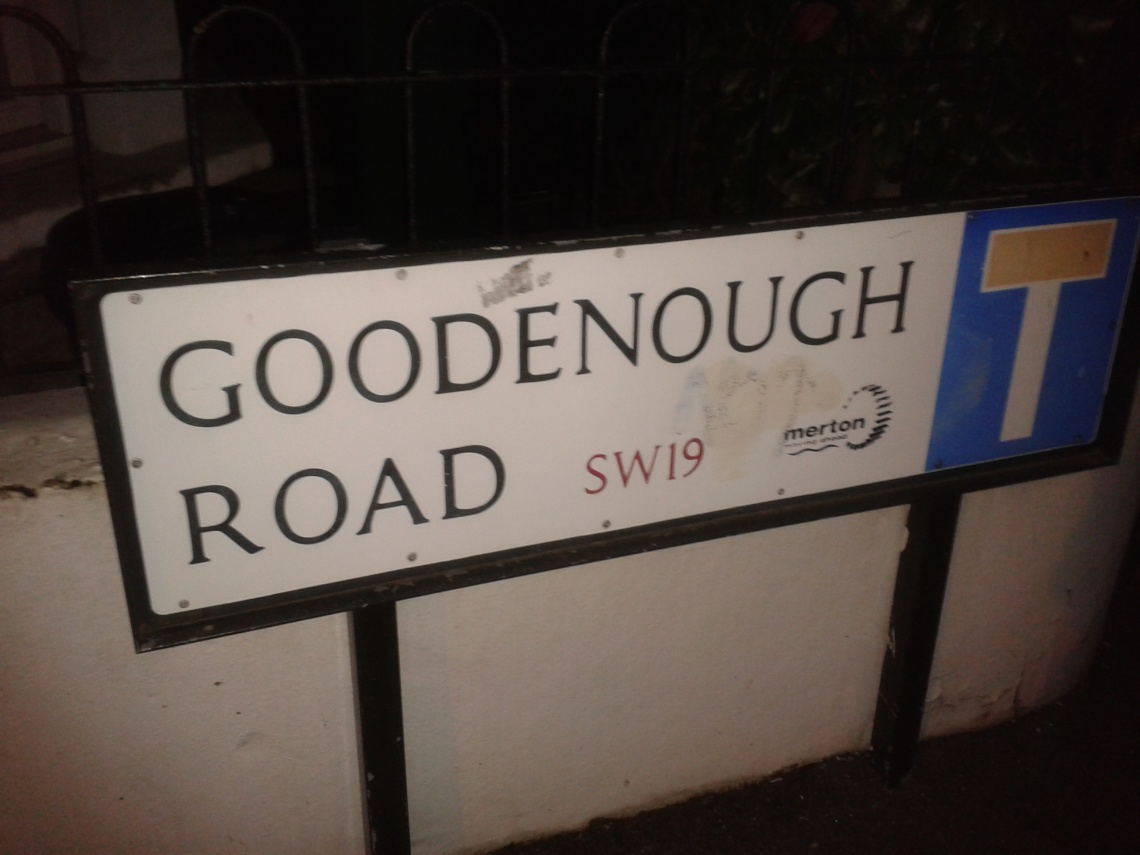 If only Aunty lived on Goodenough Road
