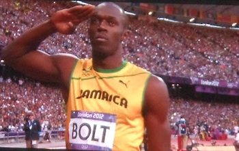 Usain Bolt's mum must be very proud