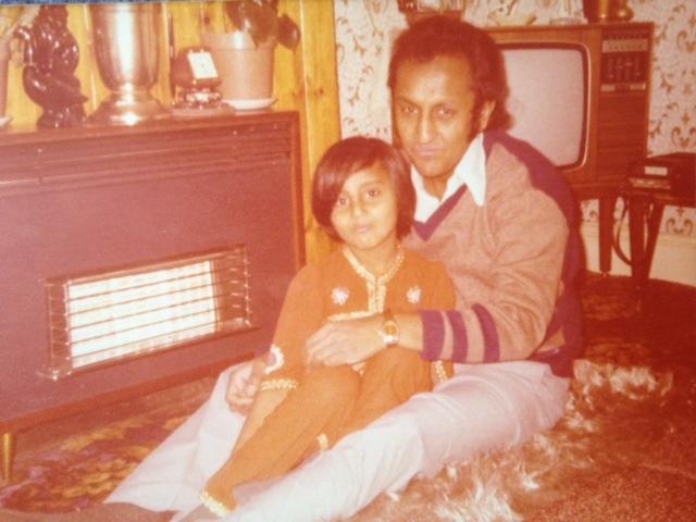 Shaila with her dad